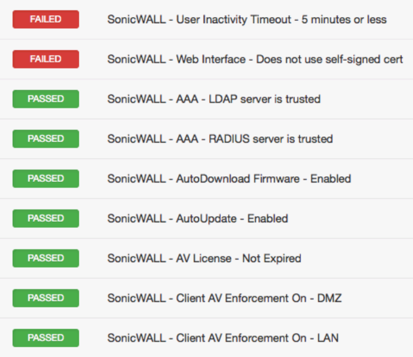 SonicWALL SonicOS Compliance File Reference (Nessus