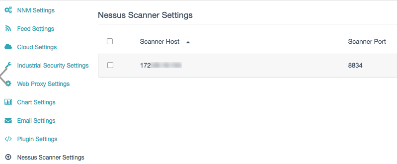 Nessus Scanner Settings Section (NNM)